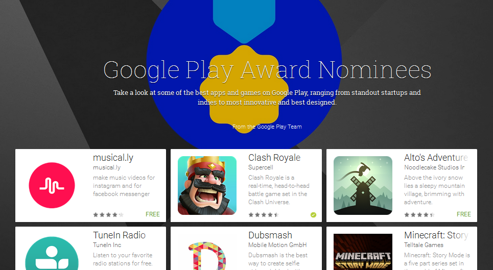 Google Play Awards Nominee