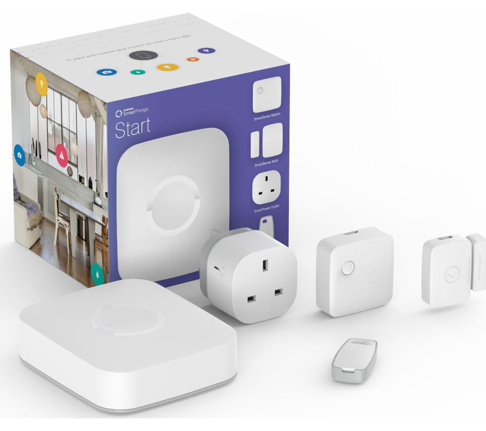 [Foto: Seperangkat Samsung SmartThings Starter Kit | Samsung.com]