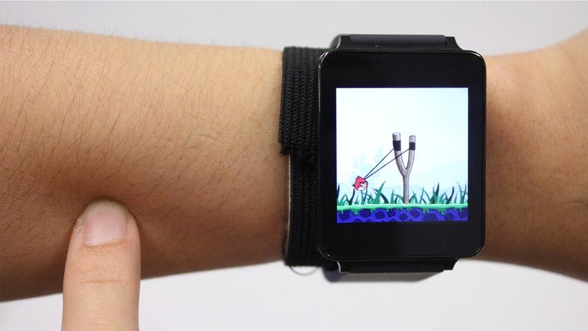 [Foto: Teknologi SkinTrack ini bahkan bisa digunakan untuk bermain Angry Birds | cmu.edu]