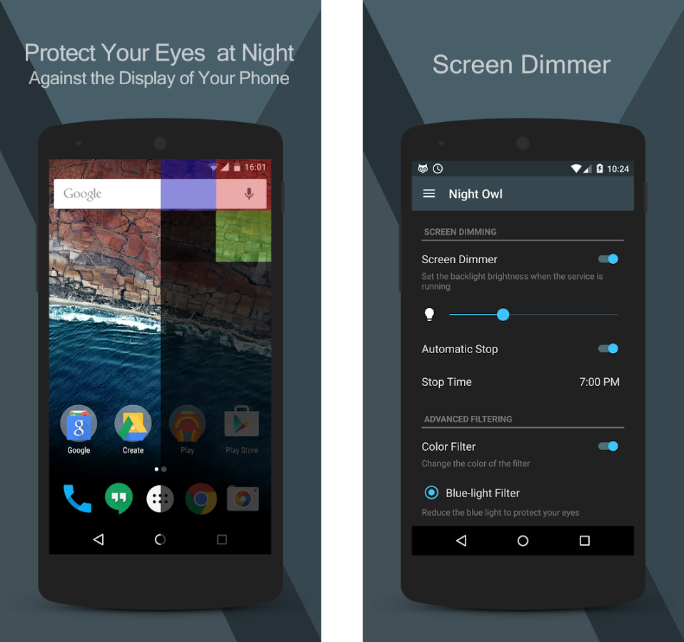 [Gambar: Tampilan aplikasi Night Owl | via Google Play]