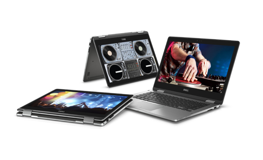 [Gambar: Tiga Dell Inspiron 13 7000 Series (Model 7368) 2-in-1 Touch notebook | Businesswire.com]