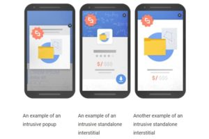 Jenis pop-up yang berpotensi mendatangkan penalti dari Google [Gambar: Google Blog]